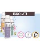Idrolati, distillati da piante fresche per la cura della pelle, trattamenti per gli occhi e cura dei capelli.